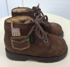 Baby Boys EURO HIKING BOOTS Brown Suede ANKLE Shoes 20 FRANCE 4.5-5 US ASTER