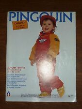 VINTAGE NR77 KNITTING PATTERN BOOK *PINGOUIN - CHILD & PARENT SWEATERS - 2-12 YR