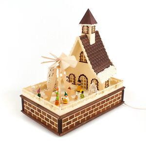 Haus mit Pyramide elektrisch - Schneewittchen und 7 Zwerge * Made im Erzgebirge