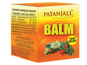 2 X Patanjali Ayurveda Balm 25 gm Relief in Pain & Exhibits Antiarthritic Free