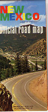 1968 New Mexico State-issued Vintage Road Map