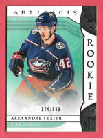 2019-20 Alexandre Texier Upper Deck Artifacts Rookie 124/999 - Blue Jackets