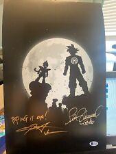 Chris Sabat/Sean Schemmel Signed 11x17 Dragon Ball Z COA Autograph Beckett Dl5