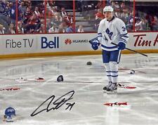 Auston Matthews Toronto Maple Leafs Signed 8x10 First NHL Hat Trick Photo