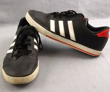 Adidas Neo Label Tennis Shoes Men's Size 11.5 Athletic Sneakers Black Red White