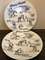 Disney Sketchbook Mickey Dinner Plates Set of 2 NEW