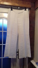 """size 12 white 100% linen fully lined machine washable trousers inside leg 30"""""""
