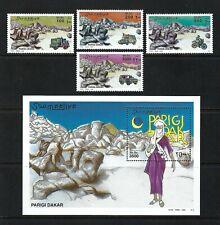 Somalia 2002 Mi#967-70,#971 Block 95  Paris-Dakar Rally  MNH MS/SS Set $37.95