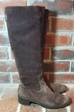 Franco Sarto Distressed Split Suede Back Zip Riding Boots - Women's Size 6
