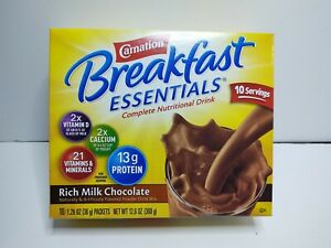 Carnation Breakfast Essentials Oral Supplement Chocolate 36 Gm Packet 60 Ct Case