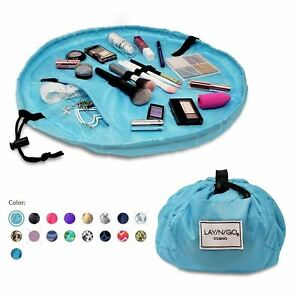 """Lay-n-Go COSMO (20"""")  Travel Drawstring Cosmetic Makeup Bag, Easy Open Close OEM"""
