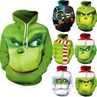 The Grinch Couple Women Men Hoodie Ugly Sweatshirt Pullover Christmas Xmas Tops