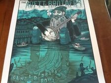 Avett Brothers Santa Barbara poster 2018 signed numbered of 220 Mint Condition