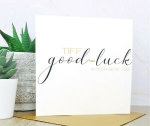Personalised Handmade Good Luck In Your New Job Card