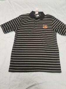 *NEW* NFL Team Apparel Cincinnati Bengals Golf Shirt Men's Sz  S, M Football