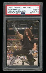 1994 Action Packed The Undertaker Signed WWF Autographed AUTO WWE PSA Graded RC