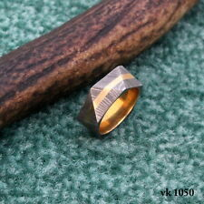 Handmade Damascus Steel Ring Knife size 11 / 21 mm  Damascus Ring  vk1050