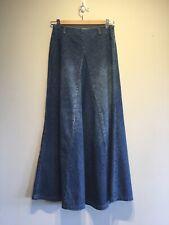 Vintage Women Denim High Waist A-Line Flare Long Skirt 'X-TM Jeans' Size S