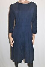 Hourglass Designer Navy Textured 3/4 Sleeve Fit & Flare Dress Size XL BNWT #Ti57