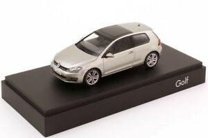 VW GOLF 7 VII GT TSI TDI HIGHLINE 3 DOOR SILVER 1:43 HERPA (OEM DEALER MODEL)