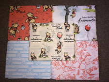 Disney Fat Quarters Fabric Winnie The Pooh x5 Pack 100% Cotton Set 2