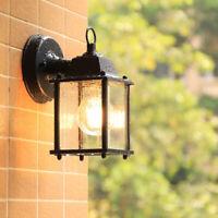 Glass Outdoor Wall Lights Kitchen Wall Sconce Garden Wall Lamp Black Lighting