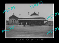 OLD POSTCARD SIZE PHOTO LOXTON SOUTH AUSTRALIA VIEW OF THE LOXTON HOTEL c1905