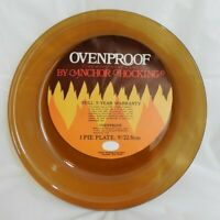 """NEW FIRE KING ANCHOR HOCKING OVENPROOF GLASS PIE DISH BOWL PLATE 9"""" AMBER"""
