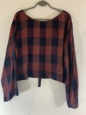 Cloth & Stone Womens Crop Shirt Size Small