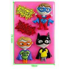 Héroe Chicos Batman Superman Pow Boom Silicona Molde por FAIRIE bendiciones
