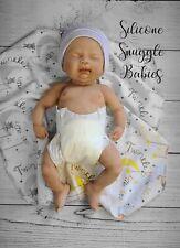 "16"" Preemie Full Body Silicone Baby Girl Doll ""Abigail"""