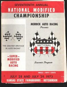 Kansas State Fair Grounds National Modified Championship Race Program 7/1973-...