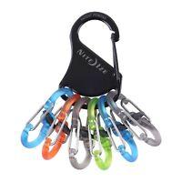 Nite Ize KeyRack Locker Polycarbonate S-Biner MicroLocks Locking Keychain w/Clip
