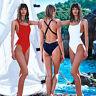 Femmes 1 Pièce Maillots de bain Haute Coupe Monokini Dos-nu One pièce Bikini