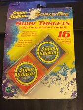 New Unopened Super Soaker Soaker Tag Body Targets 16 Targets
