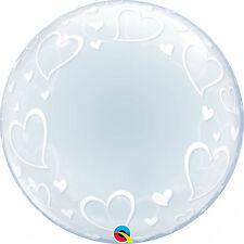 Qualatex Déco Cœur Ballon bulle Fête amour 61cm