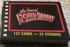 30-Yr.Old*Disney Who Framed Roger Rabbit Complete Card & Sticker Set from 1987!
