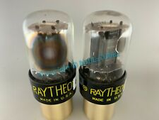 """RAYTHEON 6SN7GTB BLACK PLATES SIDE """"D"""" GETTER TUBES *PLATINUM MATCHED on AT1000*"""
