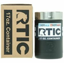 New RTIC 17oz Insulated Food Container ~  CHARCOAL Matte STAINLESS STEEL