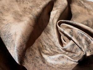Pigskin leather hide XL Classic Antique Distressed Crackle Bomber Jacket Print