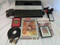 Atari 7800 Pro System Console Modified Composite AV RCA w/ NEW CAPS!!! AV MOD