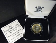 2001 Great Britain Silver Proof Piedfort 2 Pound Marconi** FREE U.S. SHIPPING **