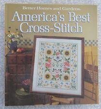 """America's Best Cross-Stitch"" Book-BH&G-1988 Hardcover-Samplers-Xmas-Children's"