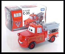 Tomica Disney C-35 CARS 2 Mater TOON RESCUE SQUAD Fire Engines Diecast Car TOY