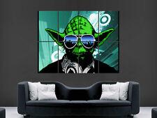 YODA DJ HEADPHONES STAR WARS LARGE PICTURE POSTER GIANT ART HUGE