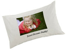 Personalised Pillow Case/Cover White Any Image, Any Text, or Image and text