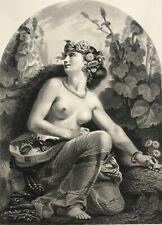 La reine des fleurs lithographie de Cherelle Salon de 1851 Fleur Fleuriste