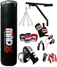 Madx 17 Piece 5ft pesante Imbottito Sacco da Box Set Guanti Supporto Catene