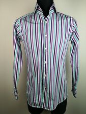 Hawes And Curtis York Slim Fit Striped Shirt Size M