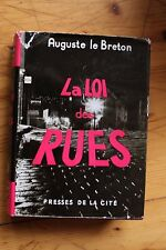 Rare EO LE BRETON La Loi des Rues /  jaquette photo